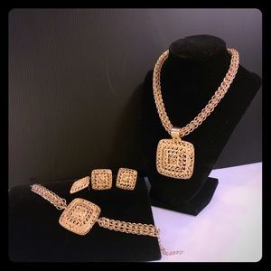 GOLD PLATED NECKLACE SET- 4 pieces